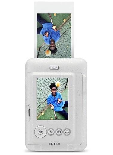 Fujifilm instax mini LiPlay Hybrid Stone White Fotoğraf Makinesi Beyaz
